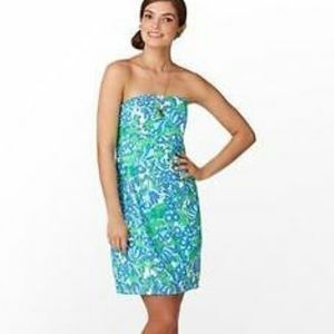 Lilly Pulitzer Strapless Franco Dress